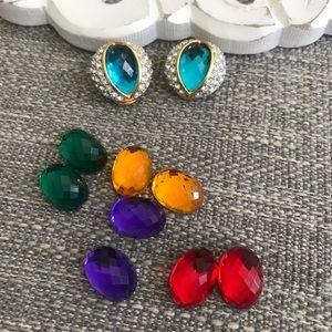 Joan Rivers Interchangeable Clip on Earrings
